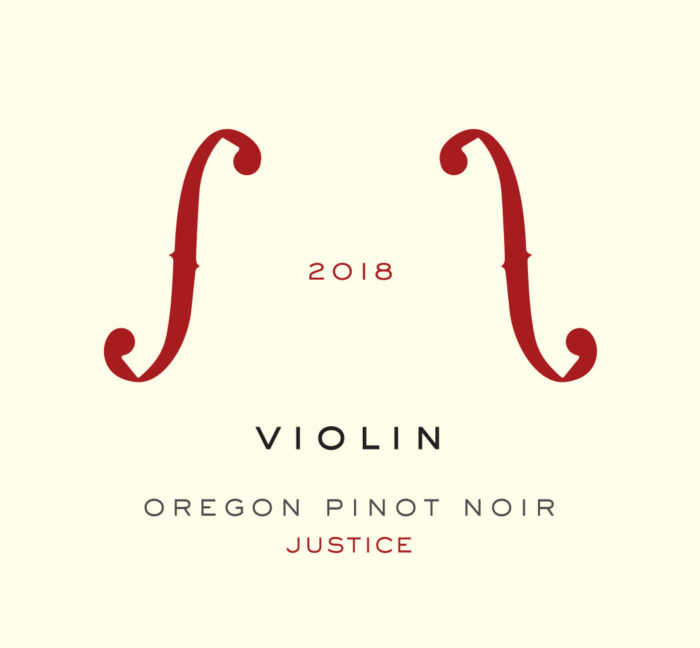2018 Justice Vineyard [label]